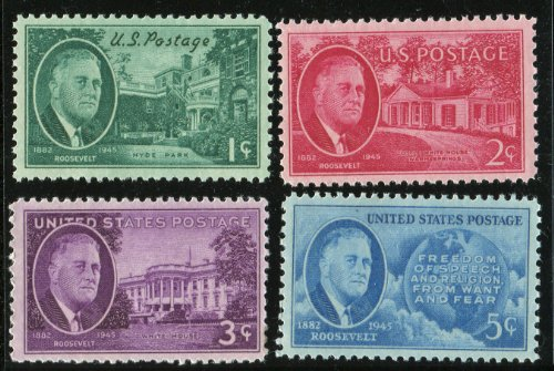 (The Roosevelt Memorial Series Set of 4 stamps (US Postage Stamps))