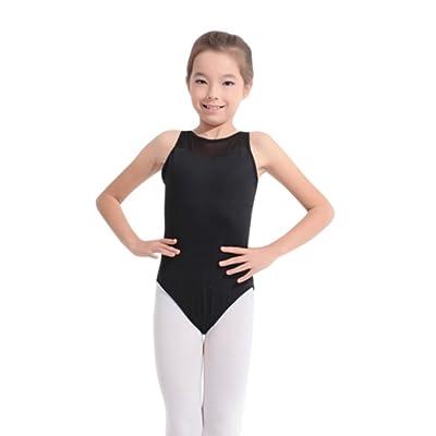 EFINNY Girls' Mesh Slim Tank Dancing Ballet Camisole Leotard