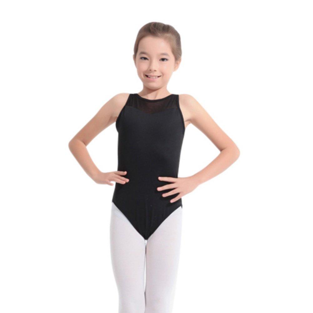 EFINNY Girls Mesh Slim Tank Dancing Ballet Camisole Leotard