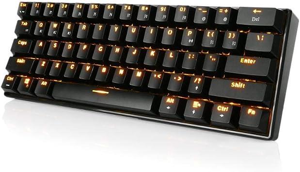 Teclado para Juegos Portátil Interruptor 60% teclados 61 ...