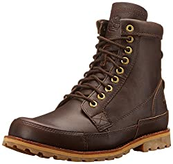 Timberland Men's EK Original Leather 6 Inch Boot, Mulch Forty, 9.5 W US