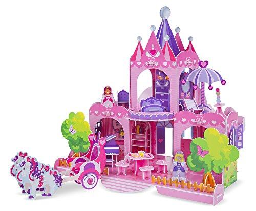 Melissa & Doug Brain Teaser - Melissa & Doug Pink Palace 3-D Puzzle (15 x 14.25 x 13 inches, 100+ pcs)