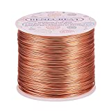 BENECREAT 20 Gauge 770FT Aluminum Wire Anodized Jewelry Craft Making Beading Floral Colored Aluminum Craft Wire - Copper (Color: Copper, Tamaño: 20 Gauge)