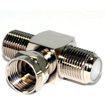 Amazon.com: Kenable 2 Way F-Type Splitter Combiner TV Cable ...