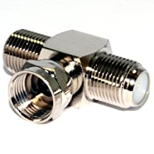 kenable 2 Way F-Type Splitter Combiner TV Cable Satellite