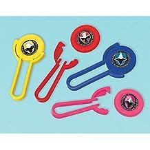 Power Rangers 'Ninja Steel'Disc Shooters (12 count) Birthday Party Supplies