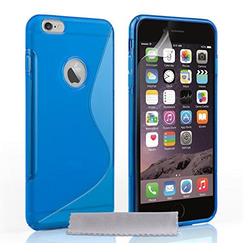Caseflex Gel Cover for Apple iPhone 6/6s Blue Silicone [AP-GA02-Z560]