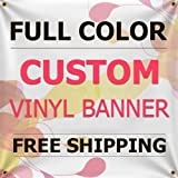 6'x18' Custom Full Color Vinyl Banners Indoor/outdoor Personalized Banners with Grommets Custom Vinyl Party/birthday Banner with True Solvent Ink Signs By Bannerbuzz