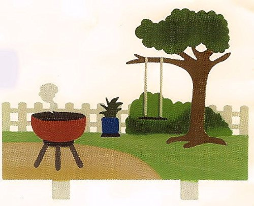 Family Matters Scenic Wall Plaque - Backyard Barbeque Background
