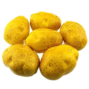 Gresorth 6pcs Artificial Potato Lifelike Fake Vegetable Home Kitchen Party Food Toy Decoration Model Props 7