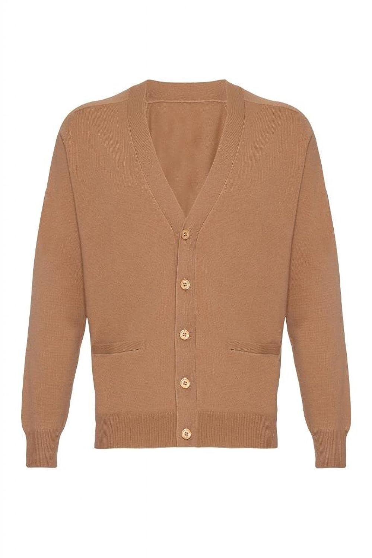 Mens Pure Cashmere Classic Cardigan