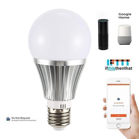 Bombilla LED E27 inteligente, bombilla A60 WiFi, compatible con Amazon Alexa, Google Home
