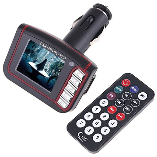 "HDE Wireless Car 1.8"" LCD FM Radio Transmitter MP3 Player wi"