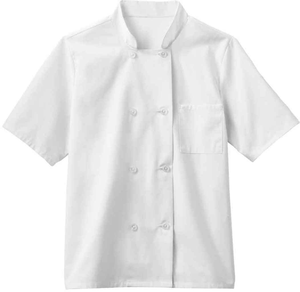 Five Star Chef Apparel Men's Moisture Wicking Mesh Back Coat (White, X-Large)