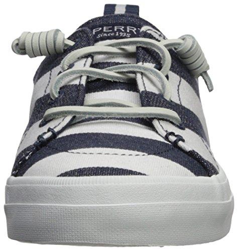 White Shoes Crest Sperry Vibe Navy Stripe Breton Women's RTc04wqO