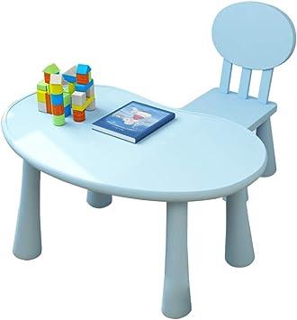 Yjzy Set Infantil Mesa Sillas,Juego de 1 Mesa y 1 Sillas,100 kg de carga,1-10 años Niños comiendo Juegos de pintura Mesa de estudio y sillas/azul/C: Amazon.es: Bricolaje y herramientas
