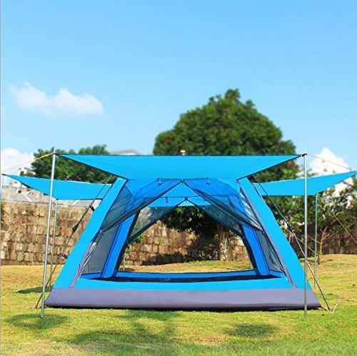 WZH Fabrikverkauf 3-4 Drehbeschleunigung-Automatik Zelt twin Doppel Regen-Geschwindigkeit professionelle camping