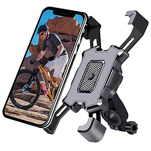 Bike Phone Mount Motorcycle Phone Holder Universal Mountain Road Bicycle Handlebar Cell Phone Holder Adjustable Scooter with 360°Rotation for 4.5 - 7 Inch Smartphone