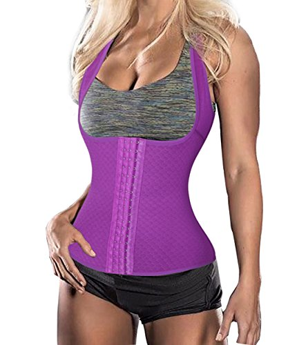 BRABIC Womens Sport Waist Trainer Corset Vest Cincher Body Shaper (4XL, PURPLE) (Vest Gypsy)