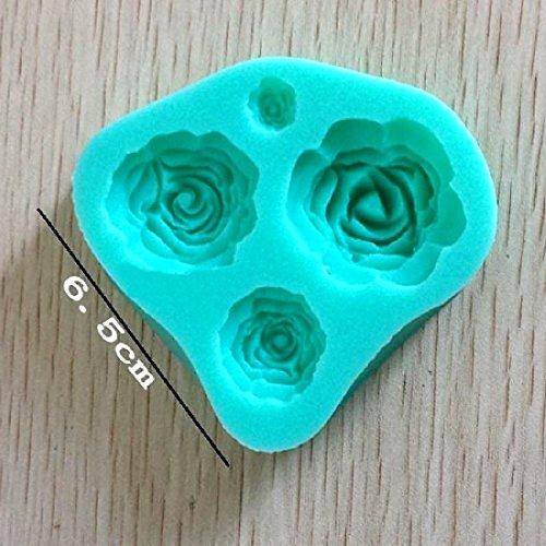 Joylive 1pc Silicon Rose Pattern Fondant Cake Sugarcraft Decorating Mold Mould Tools Random Color