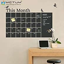 2016 NEW New 2016 DIY Vinyl Chalkboard Wall Calendar 6 Cute Birds Blackboard Wall Stickers Wallpaper Poster Art Decal Room Decor 100x70cm