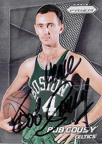 60da24ca0 Image Unavailable. Image not available for. Color  Bob Cousy autographed  basketball card (Boston Celtics ...