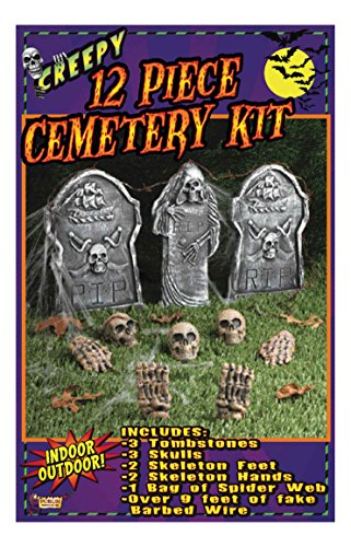 Forum Novelties 12-Piece Cemetery Kit, Multicolored ()