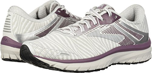 Brooks Women's Adrenaline GTS 18 White/Purple/Grey 7.5 B US B (M)