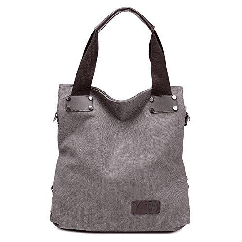 Mujer Khaki color Limeinimukete Gray Para Bolsos De Lona AxAqYaI