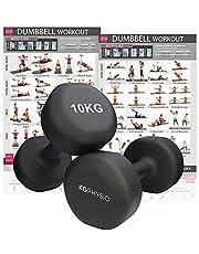KG Physio Hantlar set med 2 vikter (säljs som par) A3-affisch - Vikter tillgängliga - 1 kg, 2 kg, 3 kg, 4 kg, 5 kg, 6 kg, 8 kg, 10 kg (neopren)