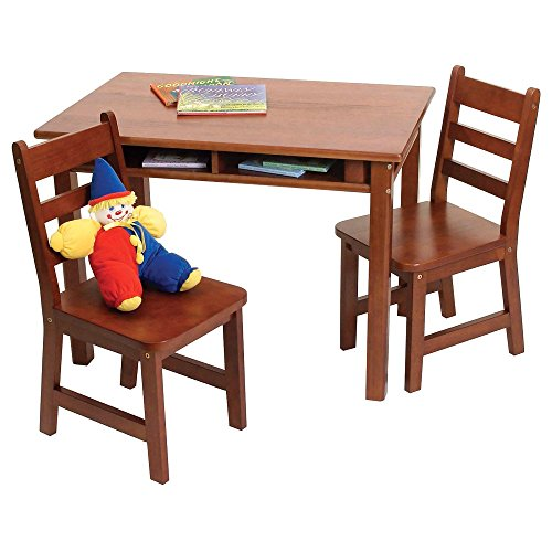 Rectangular Cherry Wood (Lipper International 534C Child's Rectangular Table and 2-Chair Set,)