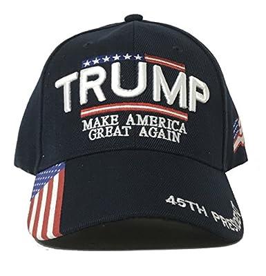 W4W Trump - Make America Great Again 3D Embroidery American Flag Baseball Cap