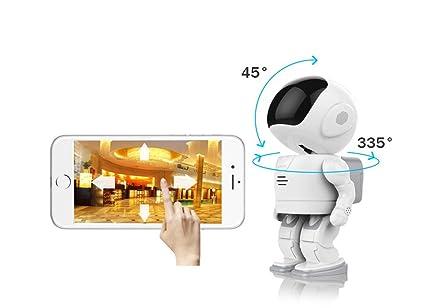 Ydq Robot Cámara De Vigilancia Inicio Inalámbrico Inteligente HD WiFi Móvil Monitor De Red Remoto Monitor