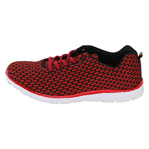 brandsseller Red brandsseller Men's Black Trainers Trainers Red Men's vS8xtq4