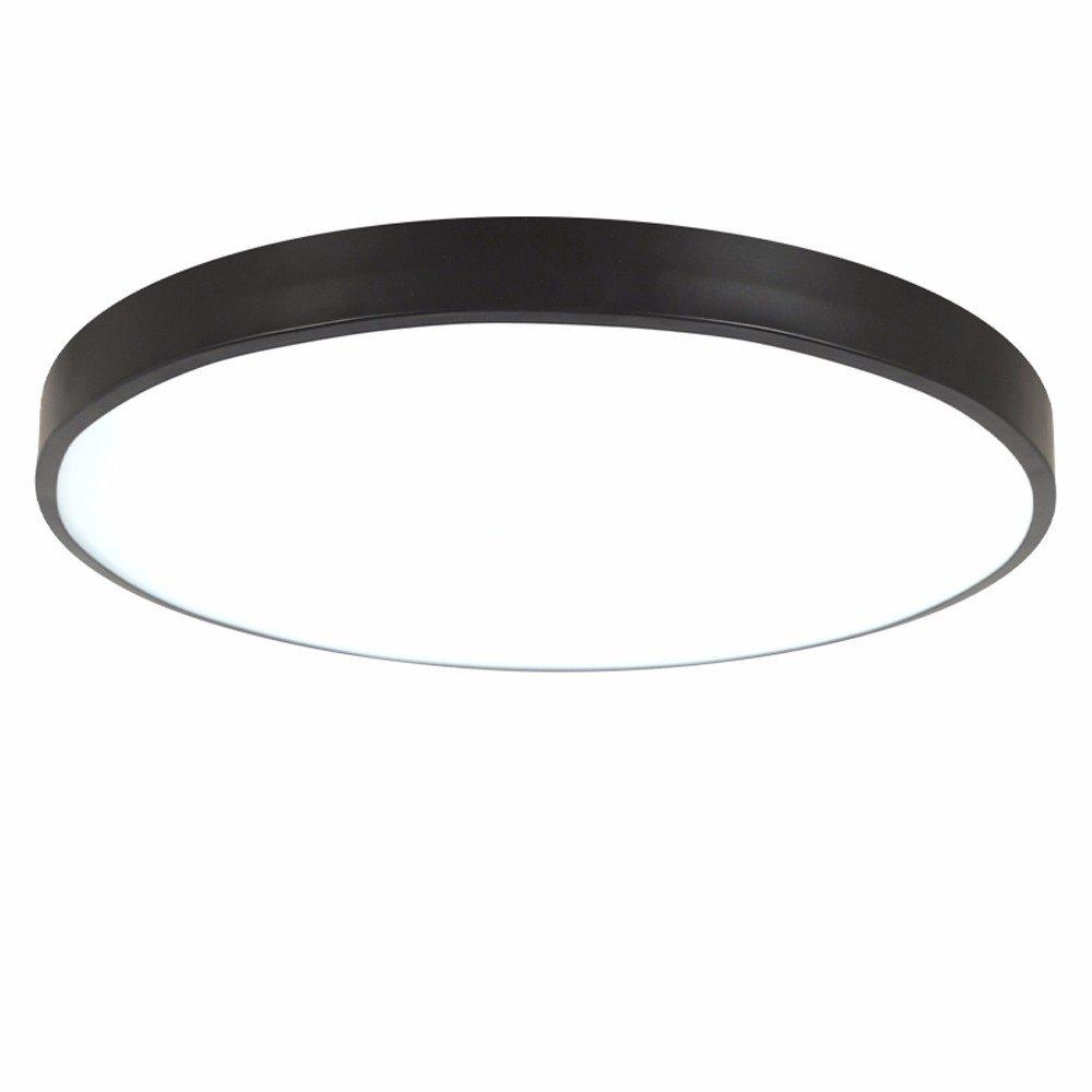 Ultra-dünne Deckenleuchte modern Einfachheit runder LED Stärke 5 cm Deckenleuchte für Wohnzimmer Schlafzimmer Restaurant Studie Zimmer Gang Balkon Beleuchtung, weiß, 50cm warmes Licht [Energieklasse A++] weiß RREN