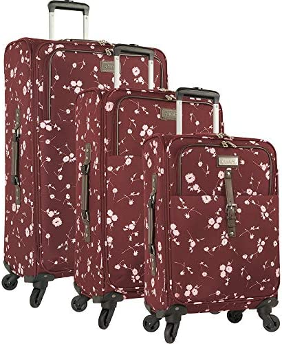 Chaps 4 Piece Luggage Spinner and Tote Set, Patchwork, One Size