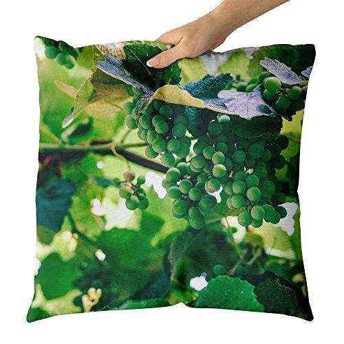 Westlake Art Grape Grapevine - Decorative Throw Pillow Cushion - Picture Photography Artwork Home Decor Living Room - 16x16 (Jackson Estate Wines)