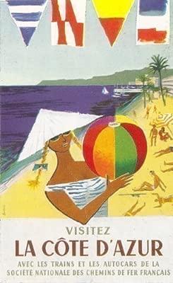 La SNCF LargeTravel cartel a La Cote D Azur .. Diseño Art ...