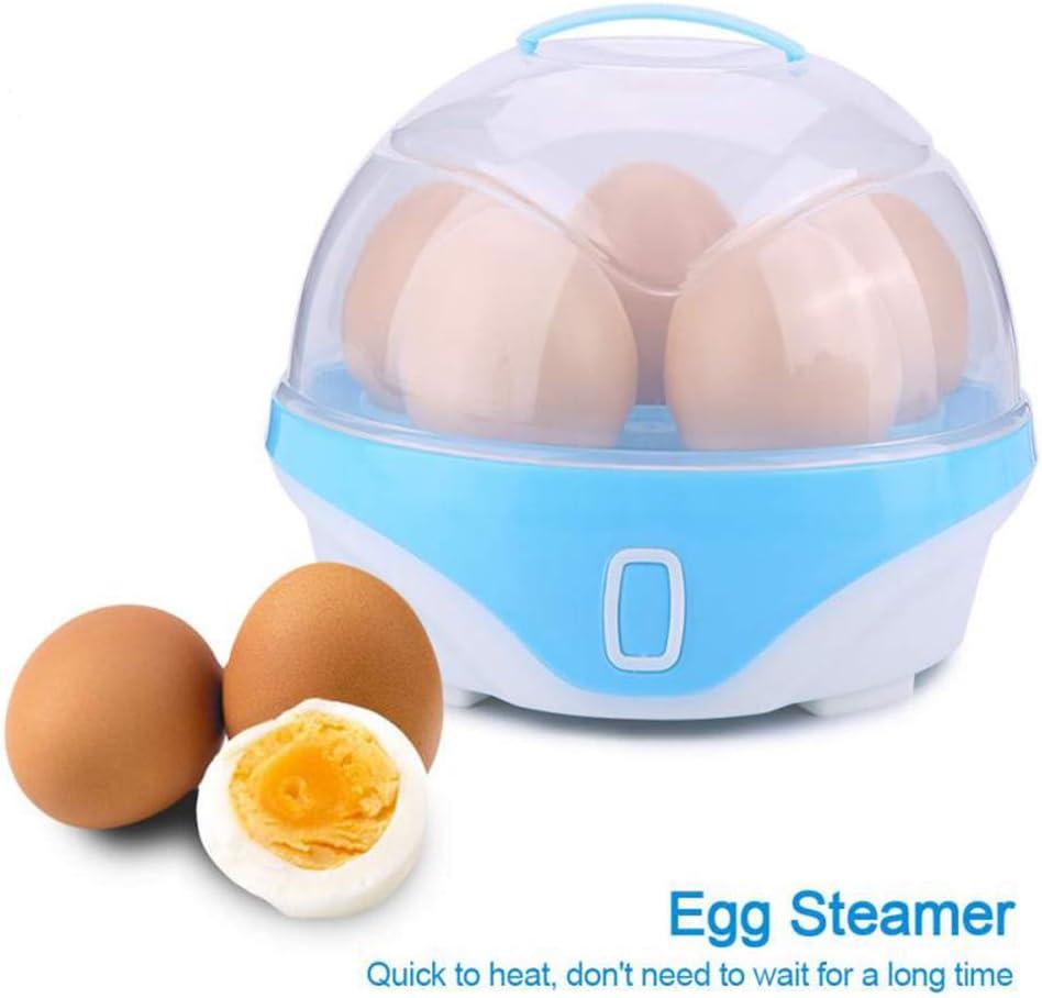 WSN Eierkocher Edelstahl,Multifunktionaler elektrischer Eierkocher-Dampfer f/ür bis zu 6 hausgemachte Kocheier