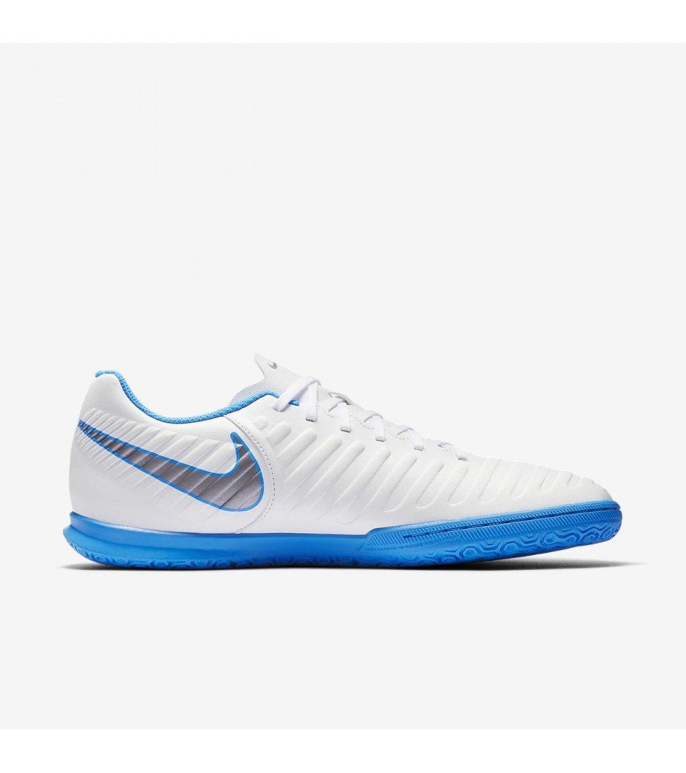 Nike Legendx 7 Club Ic - Weiß MTLC cool Grau-Blau Hero - Fussball-Indoor-Schuhe (IN)-Herren
