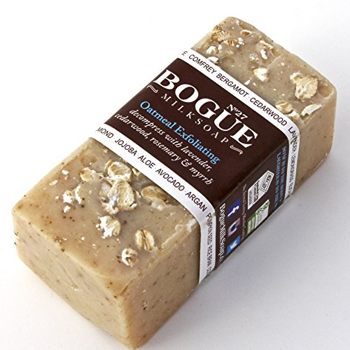 Bogue Milk Soap – No.27 Exfoliating Oatmeal- Gently Scub Your Skin and Decompress with Cedarwood, Lavender, Rosemary and Myrrh (Oatmeal Exfoliating)