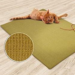 "casa pura Sisal Cat Mat, Natural Beige (24"" x 32"")   Scratch Play Pad   Multiple Colour Options"