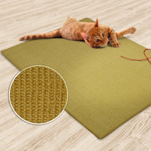 casa pura Sisal Cat Mat, Natural Beige (24