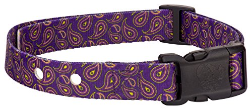 Country Brook Pet | Purple Paisley Replacement Collar for Dog Fence Receivers