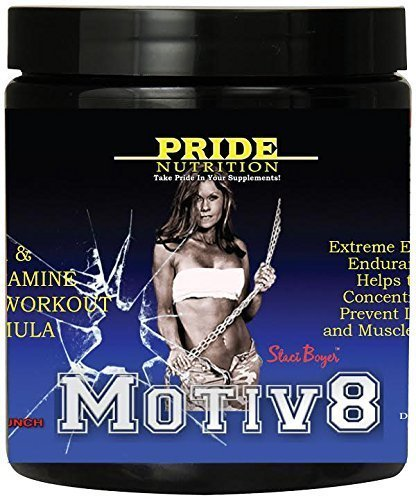 Pre Workout for Women and Men - Motiv8 Fruit Punch 250g - Bcca & Glutamine Preworkout Supplement for Recovery & Endurance - Best Amino Acid Energy Mix