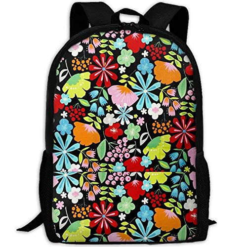 7be64d5a6c9 Fashion Beautiful Cartoon Bouquet Outdoor Shoulders Bag Fabric Backpack  Multipurpose Daypacks for Adult