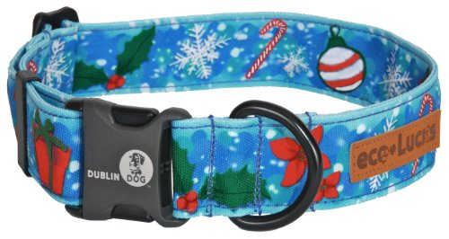 "eco-Lucks HolidayDog Collar, Frost N' Folly, Large 15"" x 24"""