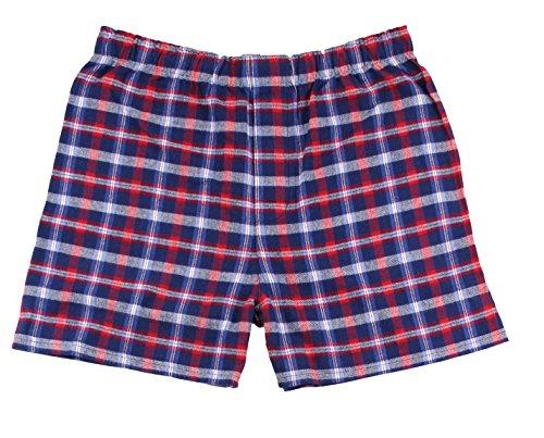 boxercraft Men's Cotton Flannel Plaid Boxer Sleep Shorts, Medium, Royal - Flannel Red Shorts Boxer