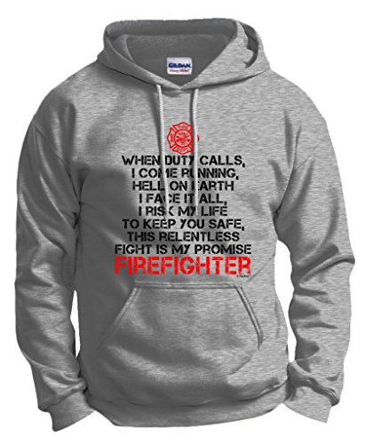 Firefighter's Vow, Occupation Firefighter Gift Hoodie Sweatshirt Medium Ash