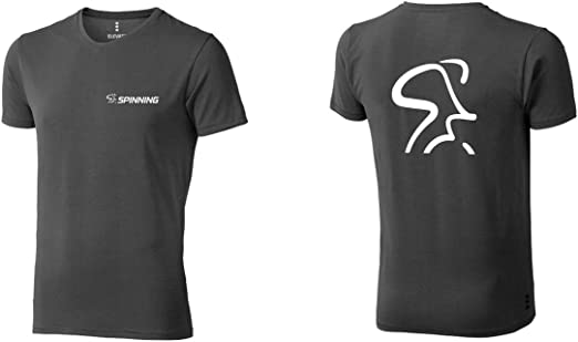SPINNING VNECKM-054 Camiseta, Hombre, Gris, Large: Amazon.es: Ropa ...